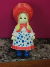 Vintage Stahlwood Ny Hollie Hobby Rubber Squeak Doll 8� Height