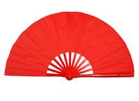 """13""""Chinese Kung Fu Tai Chi Wushu martial art Performing dance Red Bone Red fan"""