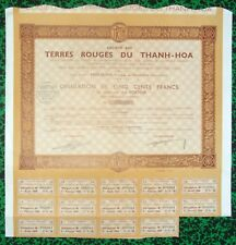 Indochine Epoque Coloniale - Nhu Xuan Province de Thanh Hoa - Ste Agricole 1938