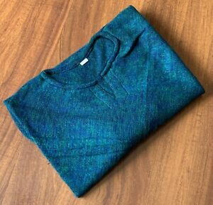 Women's Yak Wool Poncho - Warm Pullover Winter Body Wrap Ladies Green Blue Cape