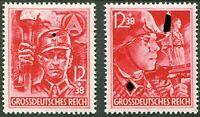 Deutsches Reich Nr. 909 - 910 ** DR postfrisch SA SS 1945 WW II German Army MNH