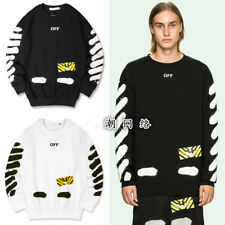 Off White C/O Virgil Abloh Mirror T-Shirt Mens Casual Long Sleeved Tee Vetements