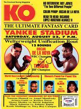 Oscar De La Hoya Autographed Signed KO Boxing Magazine Cover PSA/DNA COA S48590