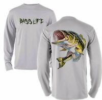 Microfiber Moisture Wicking Long Sleeve Fishing Shirt Bass