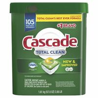Cascade Total Clean ActionPacs Dishwasher Detergent (Fresh, 105 ct) *NEW*