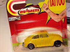 VINTAGE arancia rossa MAJORETTE 212052010 VW Beetle//Maggiolino Berlina standard