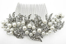 Wedding Bridal Hair Accessories Flower Hair Comb,Rhinestone Crystals 8092