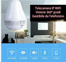 Telecamera IP Wi-Fi in Lampada 360° gradi Comandabile da cellulare