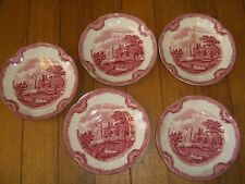 "(5) Johnson Bros. ""Old Britain Castles"" Saucer(s)/ ""Kenilworth Castle in 1792"""