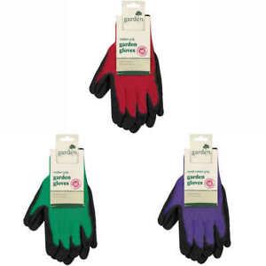 Small Medium Large Red Green Purple Latex Men's Women's Ladies Gardening Gloves