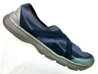 BZees Naturalizer Sandy Purple/Navy Stretch Slip On Loafer Women's 8.5 M / EU 40