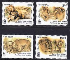 INDIA 1999 WWF ASIATIC LION OF 4 SCOTT 1765-1768 MNH