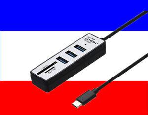2 en 1 de Type C OTG USB 3.0 Hub Splitter Combo 3 ports et SD -TF lecteur carte