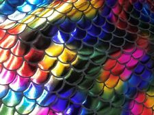 Rainbow mermaid fabric fish scale fabric sold by the yard BTY Pageants Dance