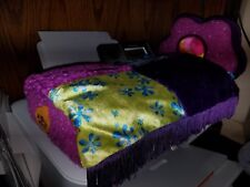 Groovy Girls Plush BED Pillow & Comforter, Eyemask & CHAIR - Oranges & Purple