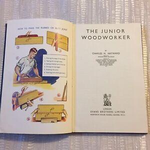 Junior Woodworker by Charles H. Hayward - Vintage Evans Brothers Hardback