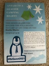 Camping Rights to Your Own Antarctic Glacier Shackleton The Penguin Badge