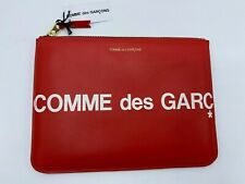 Comme Des Garcons Red Leather Pouch NEW