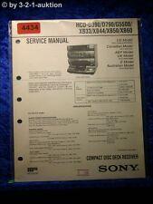 Sony Service Manual HCD D390 /D790 /G5500 /XB33 /XB44 /XB50 /XB60 (#4434)