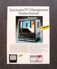 [GCG] I540 - Advertising Pubblicità - AMSTRAD TUTTO IN UNO,TV VIDEOREGISTRATORE