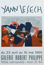 Yann le Sech affiche litho galerie Robert Philippe 1965 art abstrait P 289