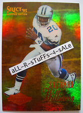 1995 Select Certified SHERMAN WILLIAMS Cowboys MIRROR GOLD Rookie RC Rare #128