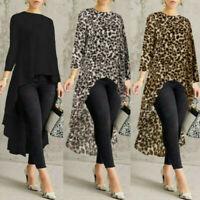 CA Lady Women Long Sleeve Asymmetrical Waterfall Shirt Tops High Low Plus Blouse