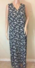 Rafaella women's floral button down long dress Size 14