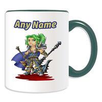 Personalised Gift Gnome Warrior Mug Money Box Cup World Warcraft WOW Alliance