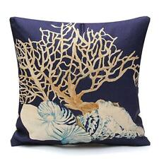 Home Decor Throw Pillow Case Ocean Coastal Beach Nautical Lumbar Cushion Cover