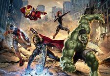 Wall Mural photo Wallpaper AVENGERS MARVEL HERO Comic HULK SPIDERMAN FOR BOYS
