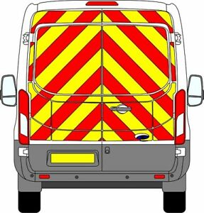 FORD TRANSIT H2 EASY FIT FULL Chevron Kit 2014+ CHAPTER 8 PRISMATIC REFLECTIVE