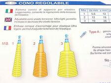 Cono regolabile Stonfo misura 3 pesca con elastico, roubasienne, canna fissa
