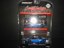 Greenlight Ford GT 2017 Blue with White Stripe Barrett Jackson 29964 1/64