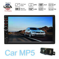 Bluetooth FM Player Stereo Radio Car 7'' 2Din HD MP5 Touch Screen + Rear Camera
