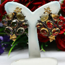 NATURAL GOLDEN YELLOW CITRINE EARRIGNS 925 STERLING SILVER