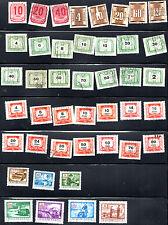 stamps MAGYAR POSTA / HUNGARY D9(3) D11(5) D12(14) D13(14) D14(7) LOT