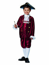 Ben Franklin / Colonial Costume Child 5 Pc Burg Knickers Coat Hat & Boot Tops Lg