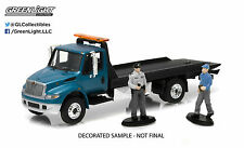 33020-C GreenLight 2013 International Durastar 4400 Flatbed Tow Truck