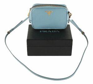 Authentic Prada Saffiano Leather Crossbody Pochette Bag 1N1674