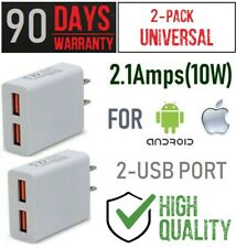 x2 10W 2.1A Double USB wall Charger Cube for LG G Pad 8.2, F, II,X V930 LTE 10.1