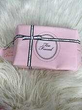 Too Faced Pink Cosmetic Makeup Bag ~ New !!