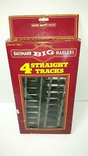 Bachman BIG HAULER Train Tracks 4 Straight Tracks NIB