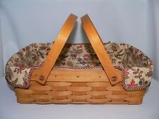 Longaberger Small Oval Gathering Or Small Gathering Liner Autumn Path New