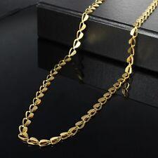 TRENDY ELEGANT 9K GOLD PLATED UNISEX MAN LADY HEART NECKLACE LADIES GIFT