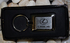 NEW ORIGINAL AUTHENTIC LEXUS DEALER KEY CHAIN RING BRUSHED & POLISHED STAINLESS