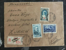 1939 paris France cover to Zurich Switzerland Multi Franked semi Postals
