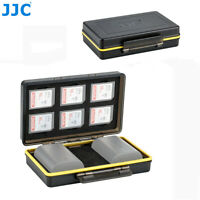 JJC 2 Camera Battery+6 SD SDHC SDXC Cards Case Box Holder fr Canon LP-E6 LP-E6N