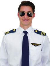 Aviator Pilot Costume Set Sunglasses Epaulets And Pilot Wings Emblem Accessories