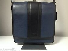 Coach Heritage Map Bombe Leather Navy/Black Crossbody Messenger Bag F71641
